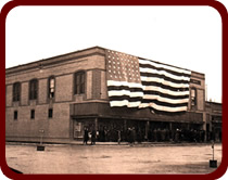 F. Johnson Building with flag